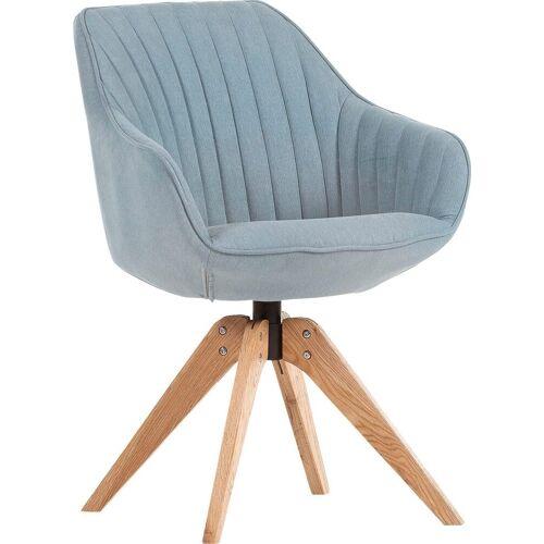 Gutmann Factory Drehstuhl »Chill«, Esszimmerstuhl, Armlehnstuhl mit bequemer Polsterung, eisblau   natur