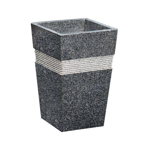 Dehner Gartenbank »Susi, 49 x 30 x 30 cm, Granit, schwarz/grau«