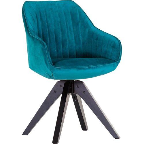 Gutmann Factory Drehstuhl »Chill«, Esszimmerstuhl, Armlehnstuhl mit bequemer Polsterung, blau   schwarz
