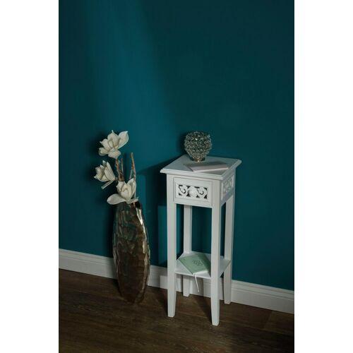 my Flair Beistelltisch »Romantic«, Beistelltisch, weiß, Landhausstil, mit Schublade