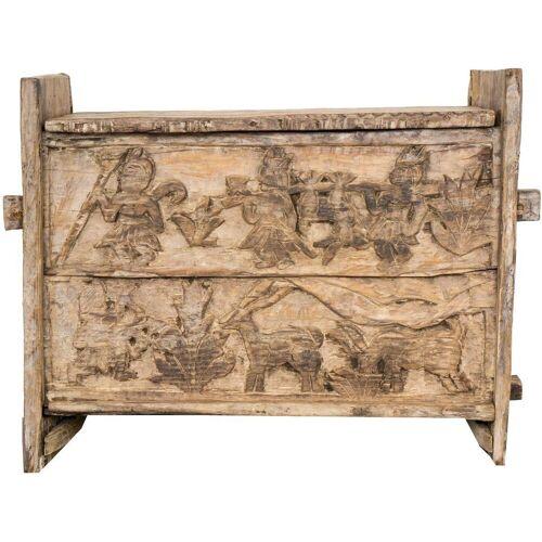 Guru-Shop Truhenbank »Rustikale Orissa tribal Holztruhe oder Sitzbank..«