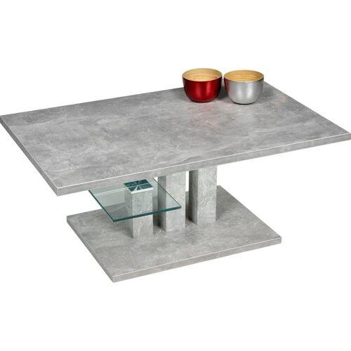 PRO Line Couchtisch »Bergamo«, Glasablageboden, betonoptik   betonoptik   betonoptik
