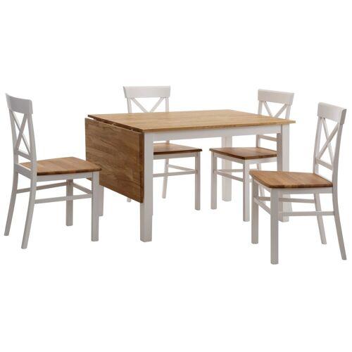 Home affaire Essgruppe, (Set, 5-St), mit ausklappbarem Esstisch
