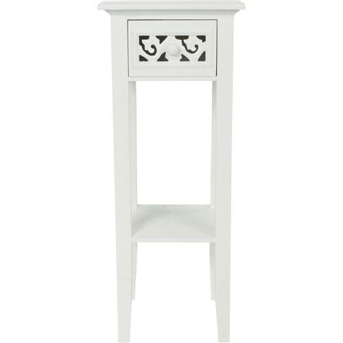Beistelltisch »Romantic«, Beistelltisch, weiß, Landhausstil, mit Schublade