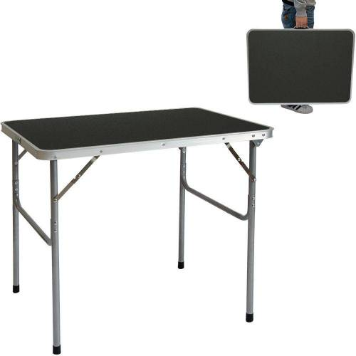 AMANKA Campingtisch »Klappbarer Campingtisch Tisch Reisetisch leicht«, 80x60x70 cm Koffer Grau