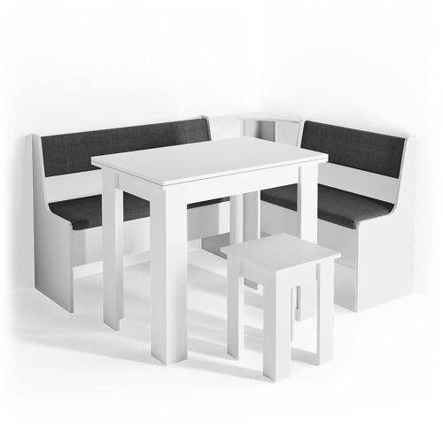 Vicco Sitzgruppe »Eckbankgruppe ROMAN weiß Esszimmergruppe Küchen«