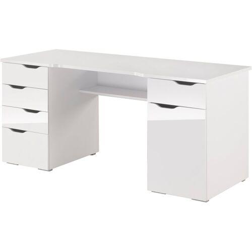 Maja Möbel Schreibtisch »Cuba«, mit geschwungener Schreibtischplatte, weiß