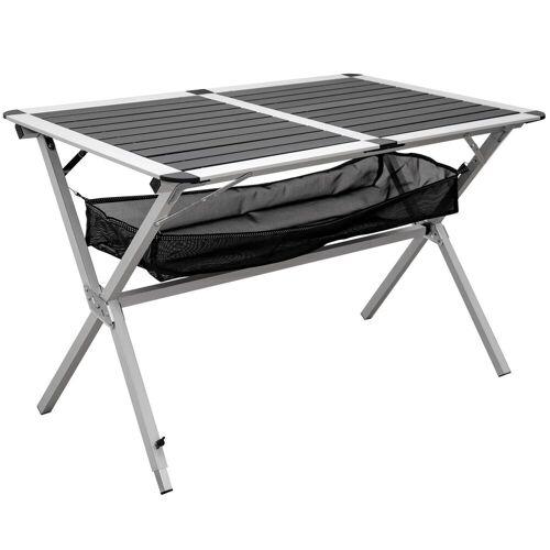 AMANKA Campingtisch »Campingtisch Alu Rolltisch mit Ablagenetz 111x71,5«, 110 x 71 x 70 cm Anthrazit