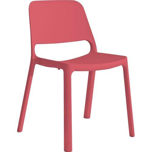 Mayer Sitzmöbel Stapelstuhl »Stapelstuhl myNUKE« (Packung), stapelbar, Himbeerrot   Himbeerrot   Himbeerrot