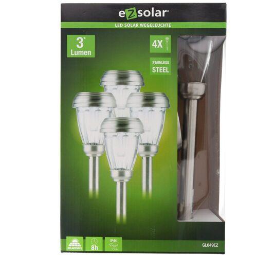 EZ SOLAR LED Gartenleuchte »4er Set LED Solar-Wegeleuchte mit bis zu 3 Lumen,«