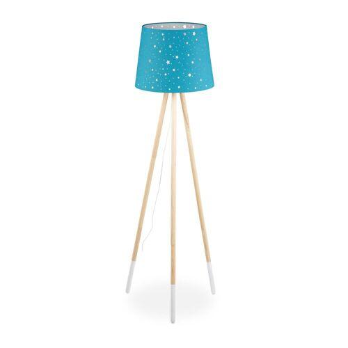 relaxdays Stehlampe »Stehlampe Kinderzimmer«, Blau