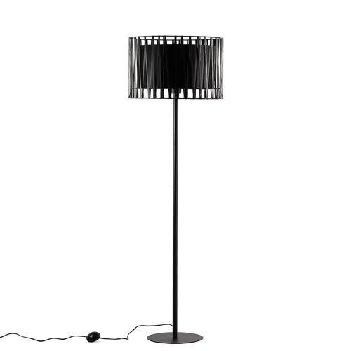 Licht-Erlebnisse Stehlampe »MINA Stehlampe Schwarz Metall 145 cm klein Wohnzimmer Lampe«
