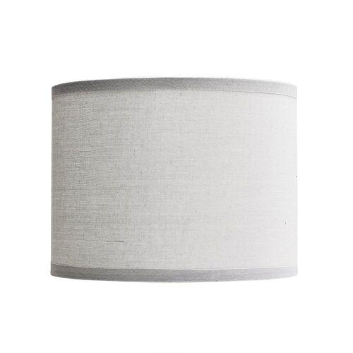 Licht-Erlebnisse Lampenschirm »GING Stoff Lampenschirm Grau Zylinder E14 Tischlampe Lampe«