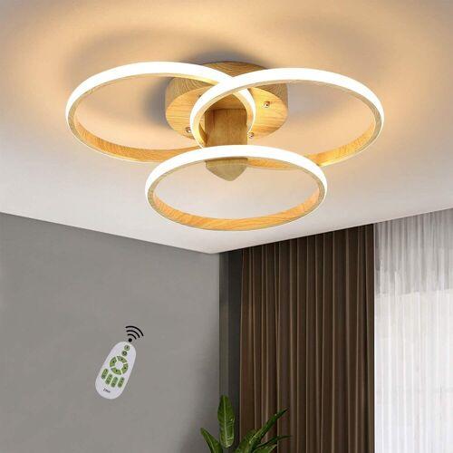 ZMH LED Deckenleuchte »Wohnzimmerlampe 55W 49.5CM 3 Ring Modern Innen Deckenlampe für Wohnzimmer Schlafzimmer Esszimmer Küche Flur und Büro«
