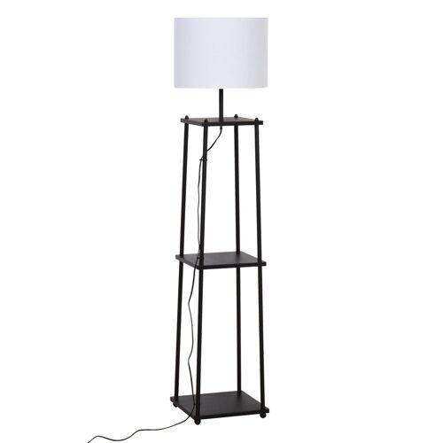 HOMCOM Stehlampe »Stehlampe mit Regalböden«