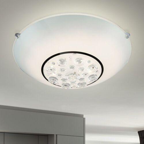etc-shop Deckenleuchte, LED Decken Lampe Wohnraum Küchen Leuchte Glas Kristall Strahler klar Esszimmer Wohnzimmer, 1x LED 12 Watt 960 Lumen
