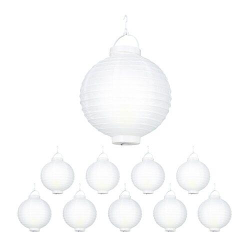relaxdays LED Lampion »LED Lampions weiß 10 Stück«