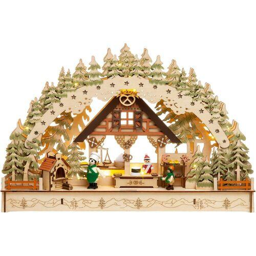 SIKORA Schwibbogen »LB69 3D Weihnachtsbäckerei mit LED Beleuchtung«