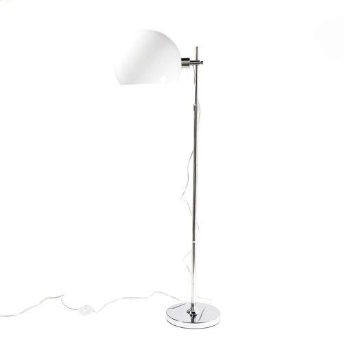 Licht-Erlebnisse Stehlampe »EMPETRUM Weiße Stehleuchte Bauhaus Chrom Weiß Kugelschirm Lampe«
