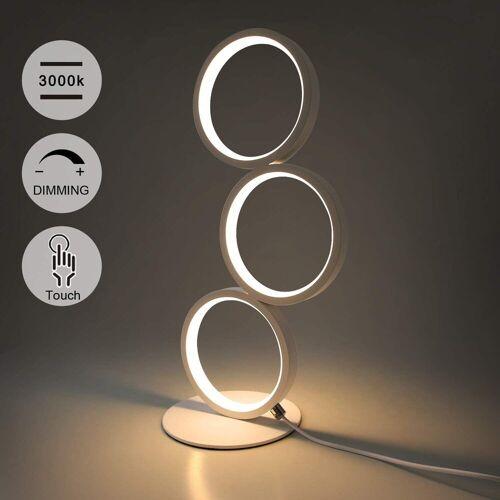 ZMH LED Tischleuchte »Touch Dimmar Nachttischlampe Ring Weiß Schreibtischlampe 3000K Nachtlampe 12W mit Stecker Wohnzimmer«