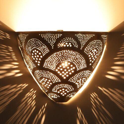 Casa Moro Wandleuchte », Marokkanische Silber-Wandlampe Kenan, AWL930«