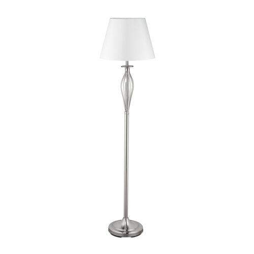 relaxdays Stehlampe »Schirmlampe Antik«, Silber