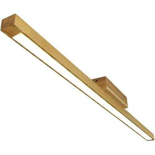 ZMH LED Deckenleuchte »3000K Warmweiß Holz Wohnzimmerlampe 114cm Lang LED«