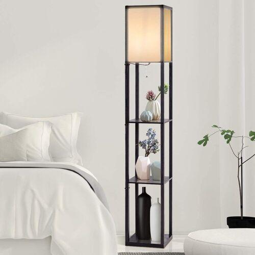 COSTWAY Stehlampe »Stehleuchte Stehlampe«, schwarz