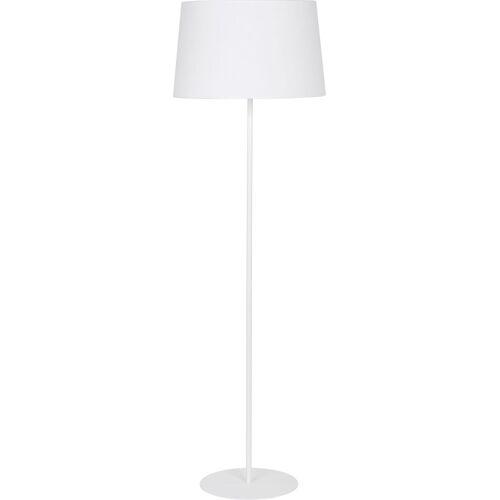 Licht-Erlebnisse Stehlampe »MAJA Weiße Stehlampe Metall Stoffschirm Bauhaus Design Wohnzimmer Couch Lampe«
