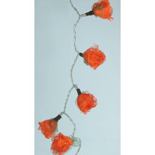 Guru-Shop LED-Lichterkette »Bast Rosen LED Lichterkette 20 Stk. - orange«, orange