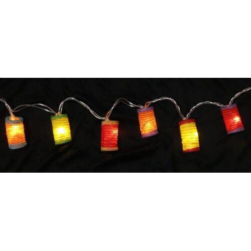 Guru-Shop LED-Lichterkette »LED Lichterkette Lampions - mix bunt 1«, mix bunt 1