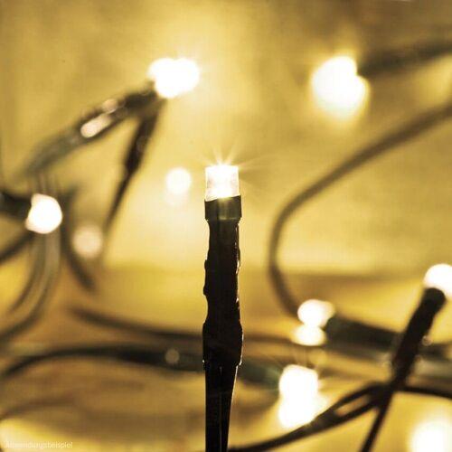 matches21 HOME & HOBBY LED-Lichterkette »LED Minilichterkette Mini Lichterkette warmweiß / grünes Kabel 100-flammig«, 100-flammig