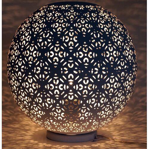 Guru-Shop Tischleuchte »Metall Tischlampe in marrokanischem Design,..«