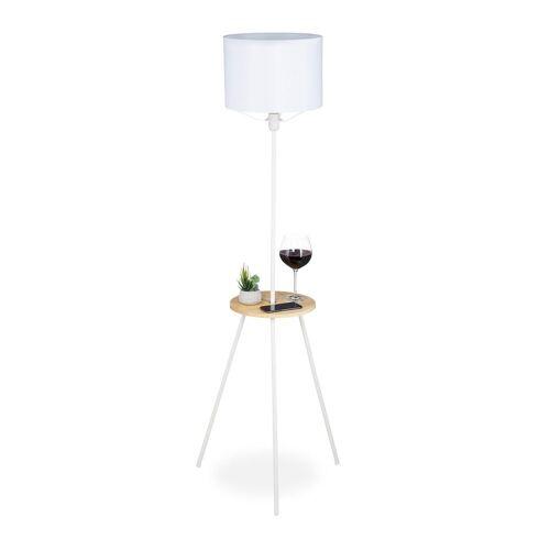 relaxdays Stehlampe »Stehlampe mit Tisch«
