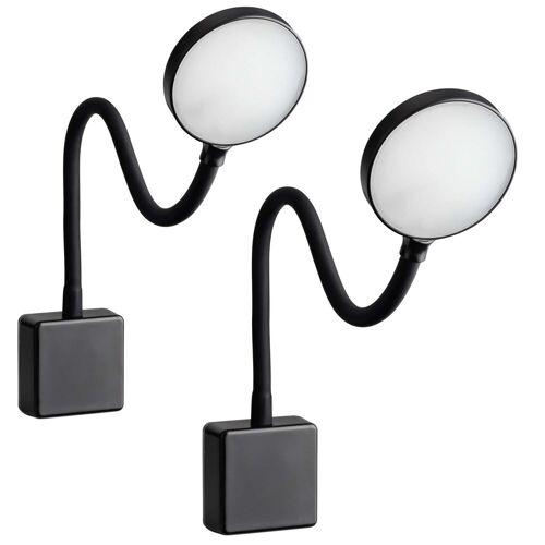 SEBSON LED Steckdosenleuchte »LED Steckdosenlampe dimmbar schwarz - 2er Set - Leuchte für die Steckdose 4W, Steckerleuchte flexibel neutralweiß 4000K, Leselampe, Nachtlicht«