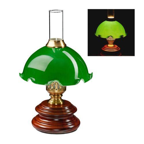 relaxdays Tischleuchte »Tischlampe Jugendstil grün«