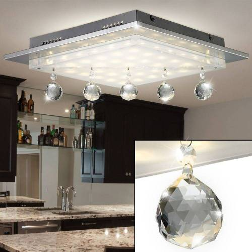 Esto Deckenleuchte, 19 Watt LED Decken Leuchte Kristall Luster Beleuchtung Glas Lampe 749027