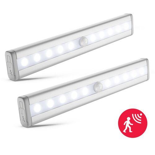 B.K.Licht LED Unterbauleuchte »Apollo«, LED Schrankbeleuchtung Nachtlicht Bewegungsmelder Schrankbeleuchtung Selbstklebend 2er Set