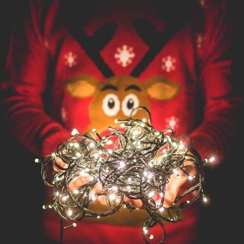 interGo LED-Lichterkette »LED Lichterketten Deko für Weihnachten Warmweiß«