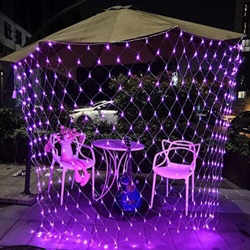 TOPMELON Lichterkette, LED Net Mesh Lichterkette, Wasserdicht, 4 Größen,Weihnachtsdekoration, Rosa