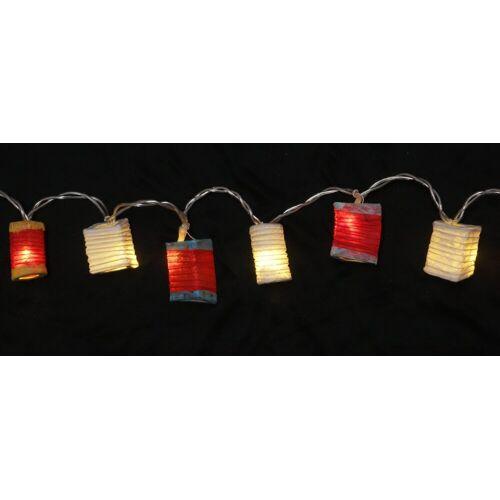 Guru-Shop LED-Lichterkette »LED Lichterkette Lampions - mix rot/weiß«, mix rot/weiß