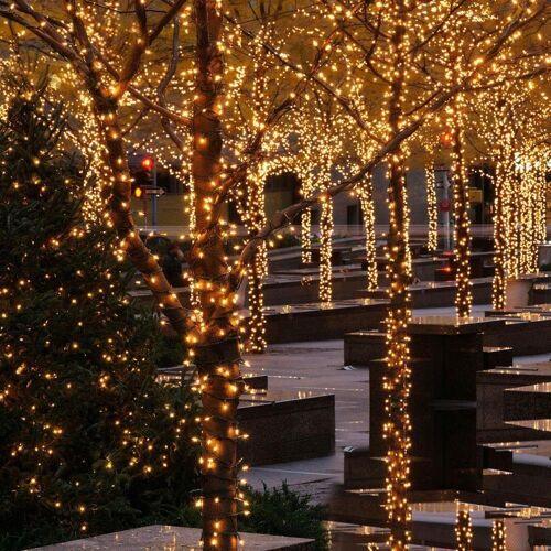 interGo LED-Lichterkette »LED 100m Lichterketten Weihnachtsdeko Warmweiß«