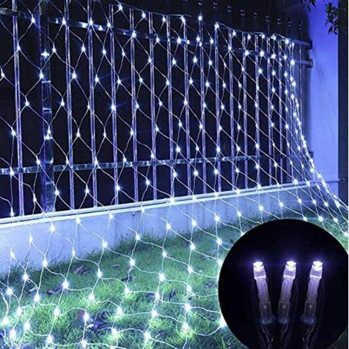 TOPMELON Lichterkette, LED Net Mesh Lichterkette, Wasserdicht, 4 Größen,Weihnachtsdekoration, Weiß