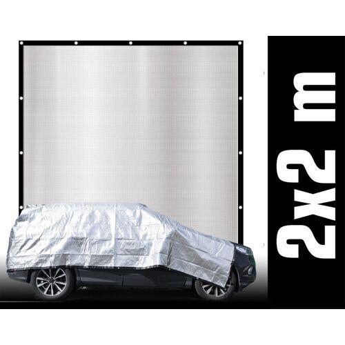AMANKA Sonnensegel »99% Schattennetz 2x2m Alu Sonnensegel Sonnenschutz«, Hitzeschutz Auto Hund Camping