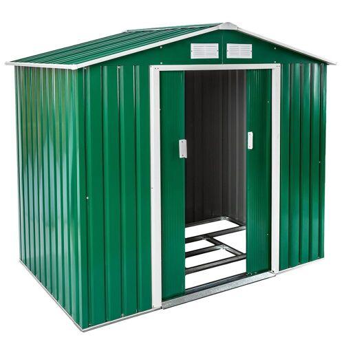 tectake Gartenhaus »Gartenhaus mit Satteldach«, grün