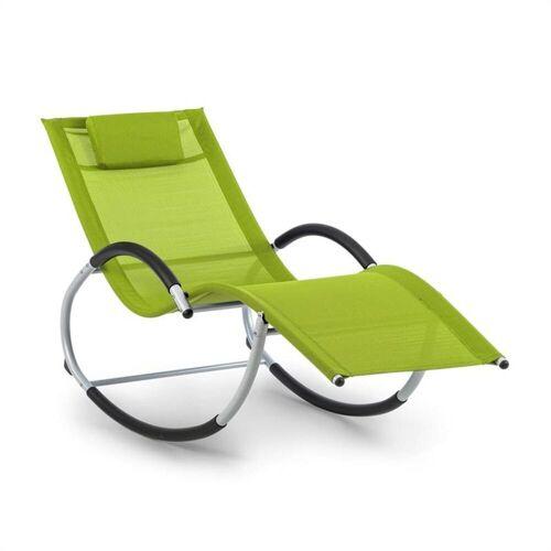 blumfeldt Gartenliege »Westwood Rocking Chair Schaukelliege grün«, Schwingeffekt, ergonomisch geformte Gartenliege