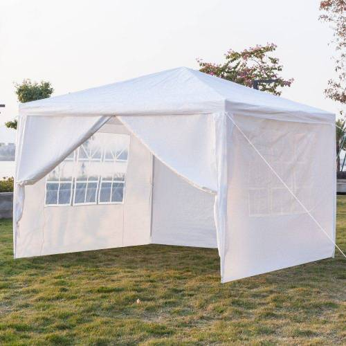 FCH Partyzelt, 3x3m Pavillon Festzelt Partyzelt Gartenpavillon Wasserdicht Gartenzelt mit 4 seitenteilen