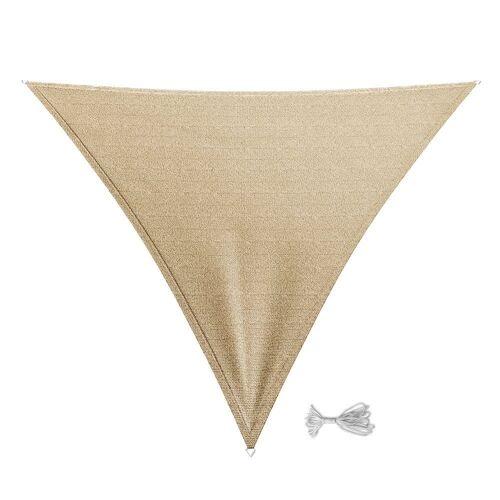 Oskar-Store Sonnensegel »Sonnensegel Dreieck 3x3x3m Beige Sonnenschutz Windschutz UV-Schutz HDPE«