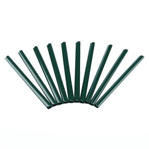 Mucola Sichtschutzstreifen »10 Stück Klemmschienen Befestigung PVC Zaunfolie Sichtschutz Doppelstabmatten Windschutz«, Grün