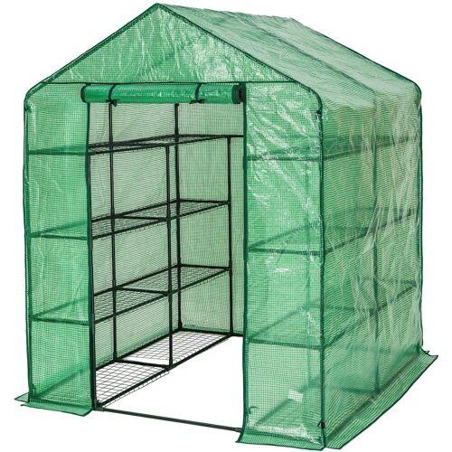 tectake Gewächshaus »Gewächshaus mit Plane quadratisch«, UV stabilisierte PVC Folie